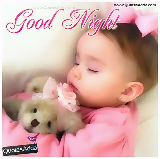 Cute Good Night Quotes Wishes With Cute Babies Images Collection