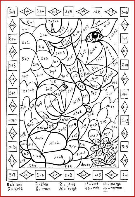 Coloriages ducatifs math matiques clasa 1 actividades escolares tdah escolares - Coloriage magique francais ce2 ...