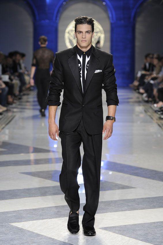 Black Suit - Versace Men's Spring Summer 2012 #evening # ...