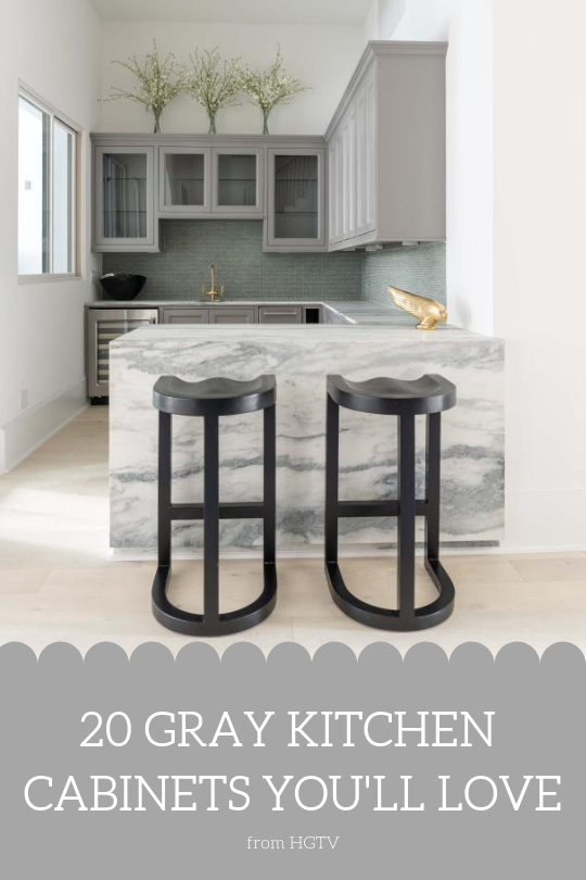 20 Gray Kitchen Cabinets You Ll Love Kitchen Cabinet Styles Hgtv Kitchens White Hgtv Kitchens