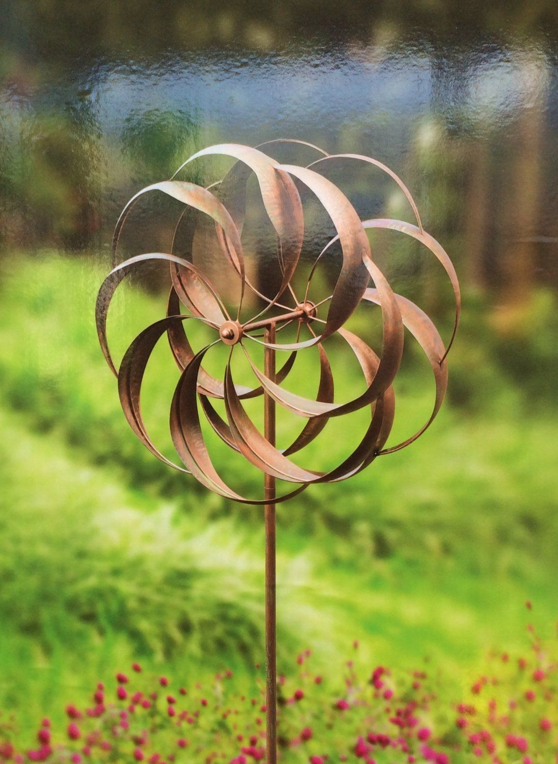 Wind Sculpture Double Spinning