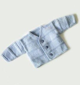 Photo of Garter Ridge Baby Cardigan Pattern (Knit)