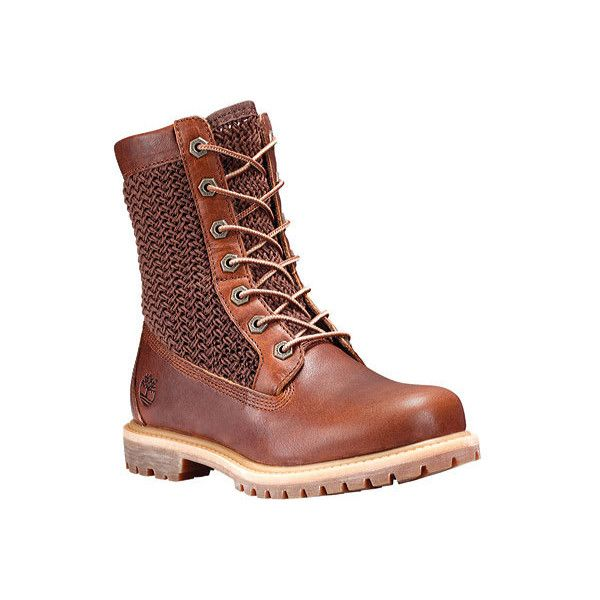 Timberland Slim Premium leather 6 inch boot ($140) ❤ liked