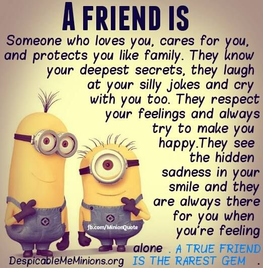 Minion Quotes Inspirational: Despicable Me Quotes Friendship. QuotesGram