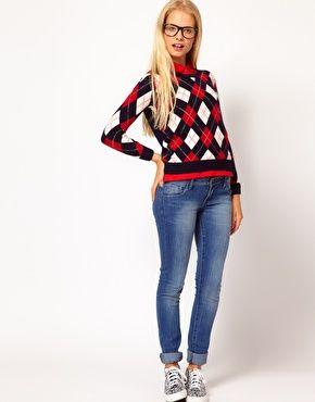 Enlarge Lacoste Live Argyle Jumper  #style #jeans #jumper