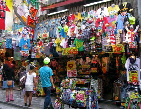Shop America street shop in amerika-mura (america village) in osaka, japan