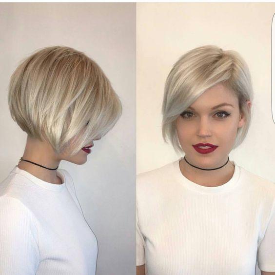 стрижки на короткие волосы с челкой фото боб
