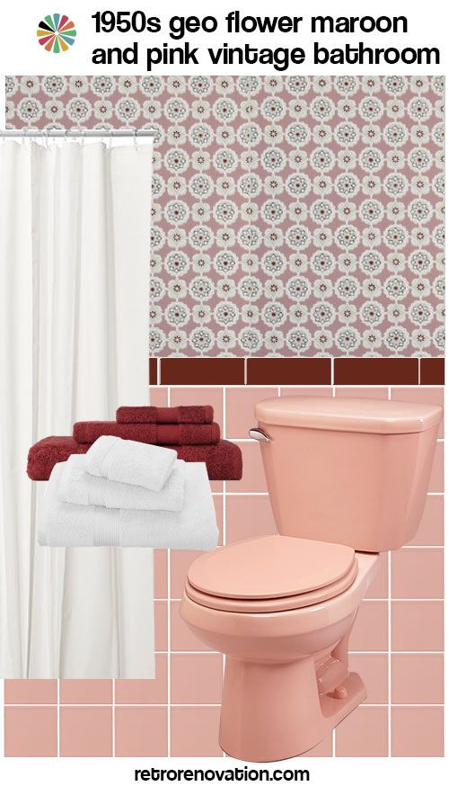 11 Ideas To Decorate A Burgundy And Pink Bathroom Pink Bathroom Maroon Bathroom Grey Bathroom Tiles