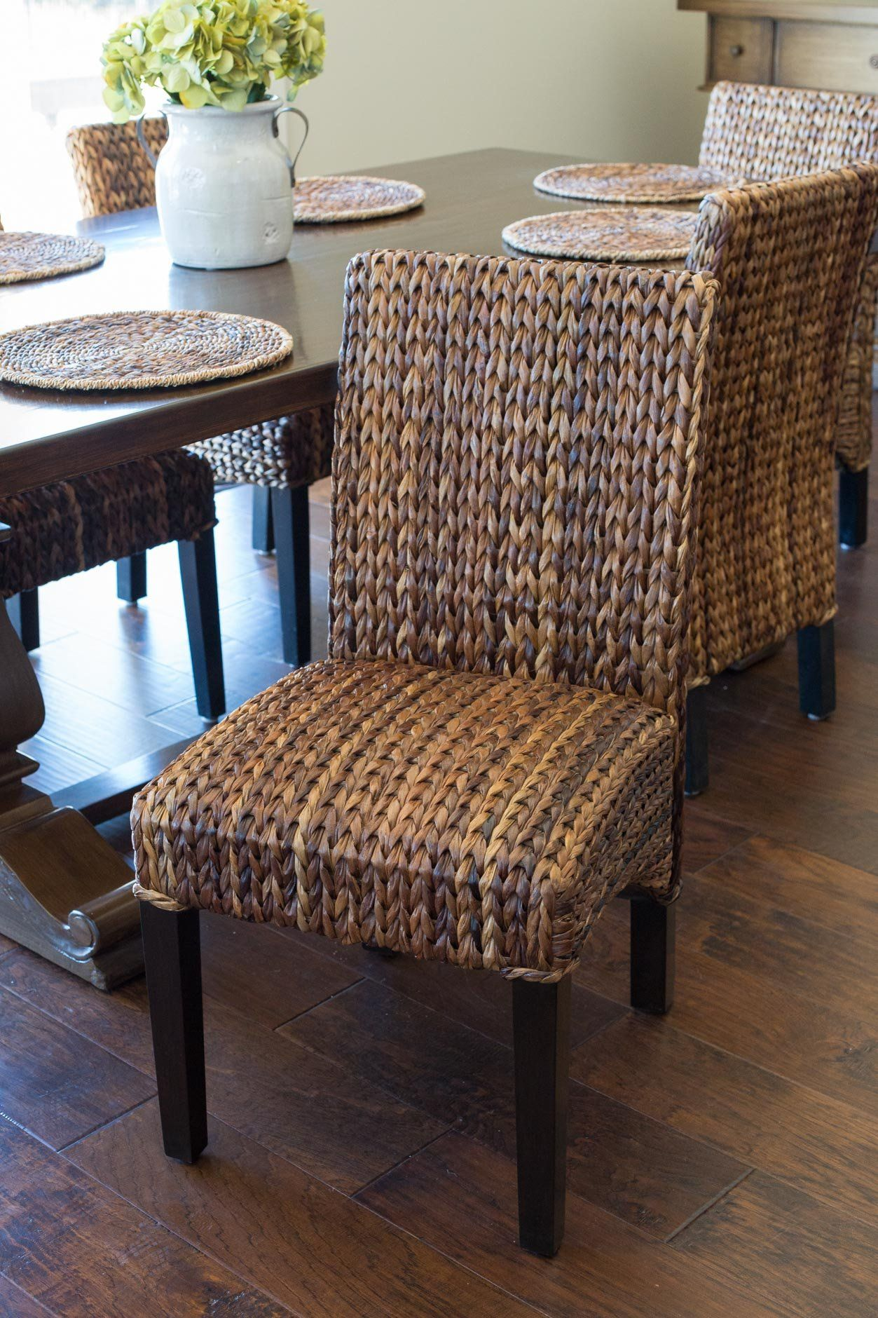 Birdrock home abaca and seagrass side chair set 2 pc