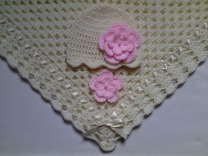 fc0c6318f6627 mantitas manta xcm y gorro de beb ganchillo hecho a mano por tatjana en
