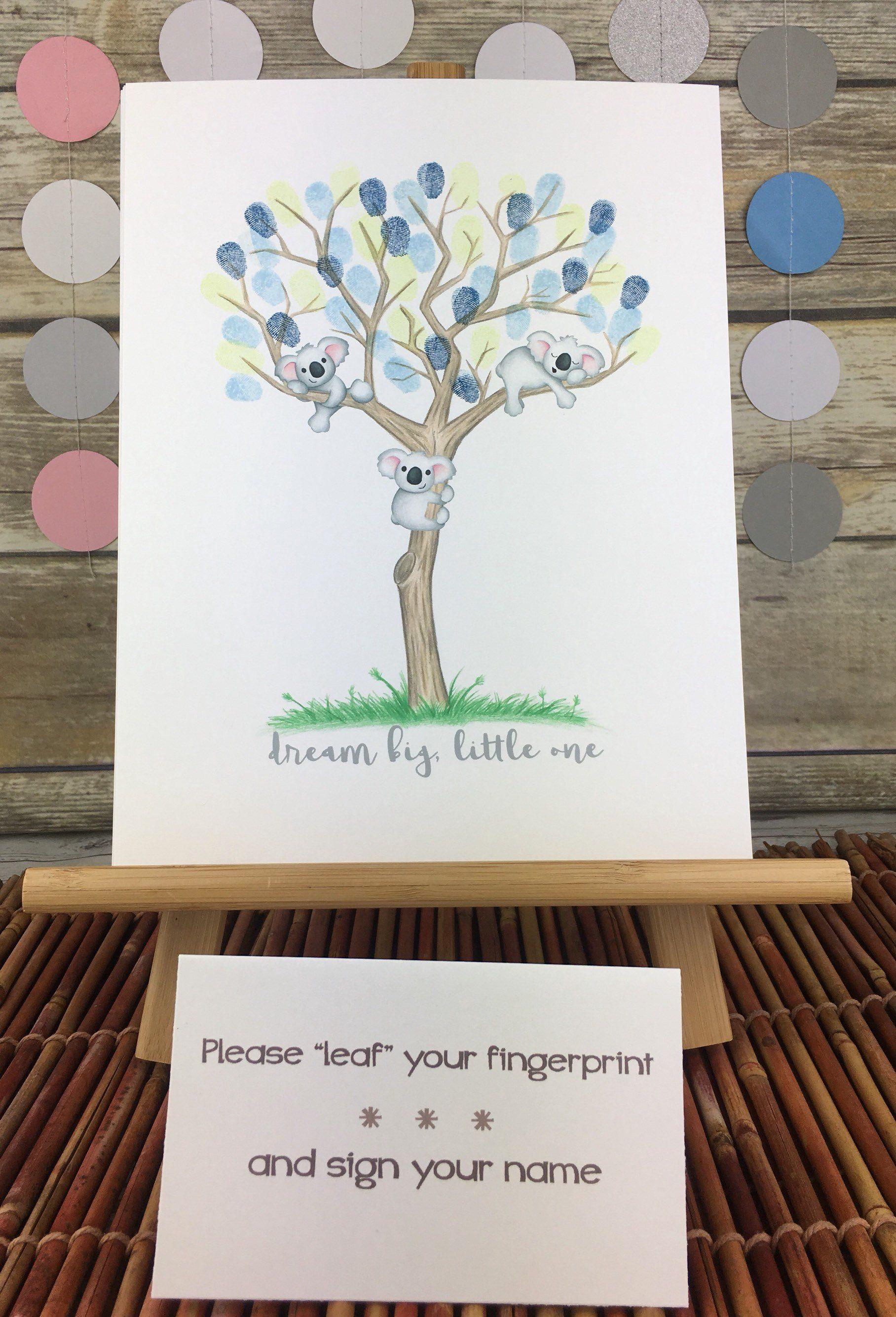 Koala Bear Themed Baby Shower : koala, themed, shower, Koala, Shower, Thumbprint, Guestbook, Alternative, Australian, Outback, Theme, Animal…, Baby,, Fingerprint,, Animal