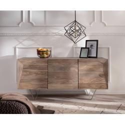 Wohnzimmer Delife Design Sideboard Wyatt 150 Cm Sheesham Natur 3d