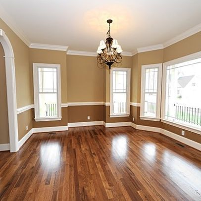two tone wall with molding- not sure how i feel about this
