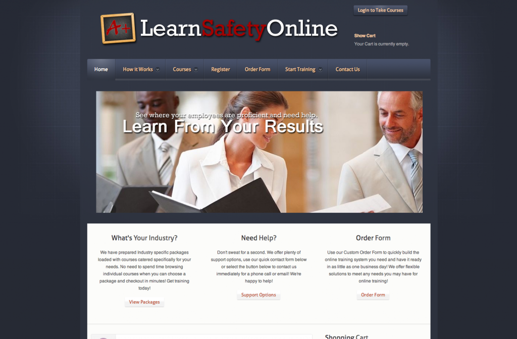Interactive online safety training media portal. Safety