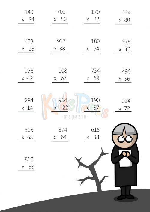 3 Digit by 2 Digit Multiplication Worksheet 1 – 2 Digit Times 1 Digit Multiplication Worksheets