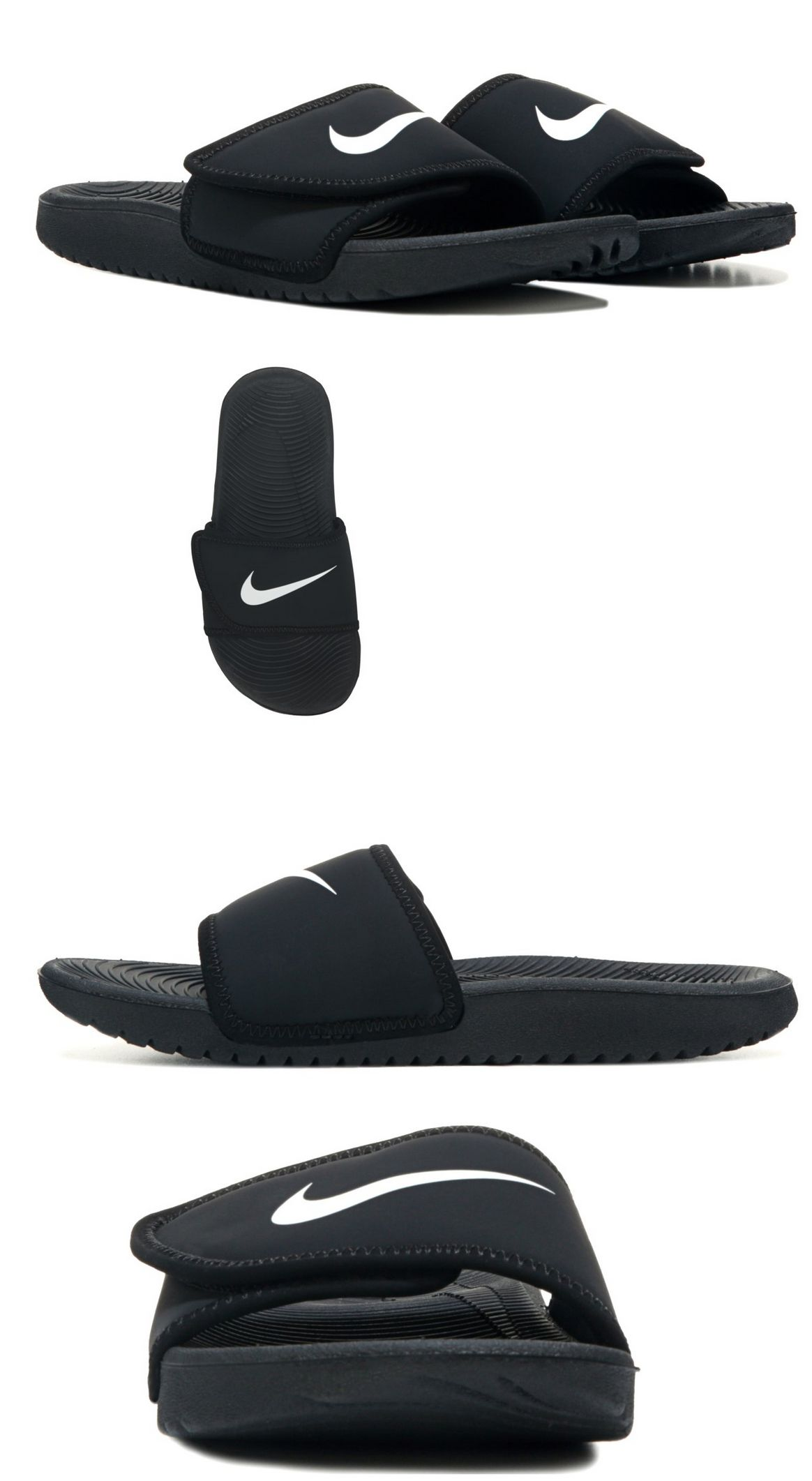 size 40 6c758 82c9c Boys Shoes 57929  Nike Boy S Kawa Adjust (Gs Ps) Black White Slide Sandals  - Assorted Sizes Nwb -  BUY IT NOW ONLY   27.99 on  eBay  shoes  adjust   black ...