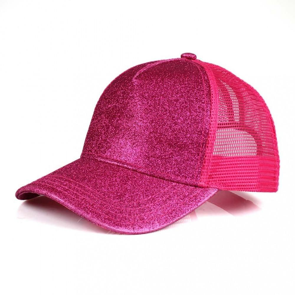 ea17096136a1ac High Ponytail Glitter C.C Ball Cap | DIY Hats/Apparel | Pink ...