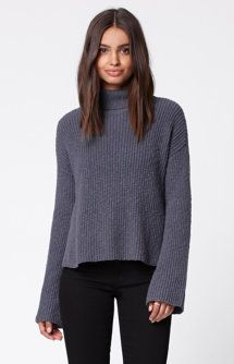 Slub Turtleneck Pullover Sweater
