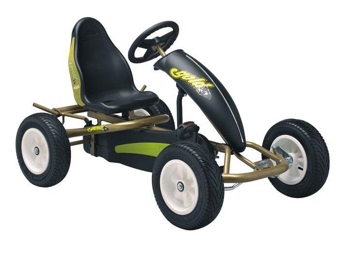 coche a pedales para nios berg gold af en el pas de los juguetes las ruedas