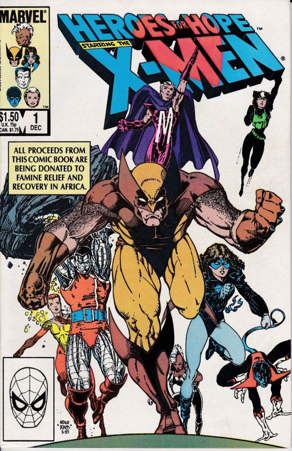 Heroes for Hope Starring the XMen 1985 1 December by ViewObscura, $4.00
