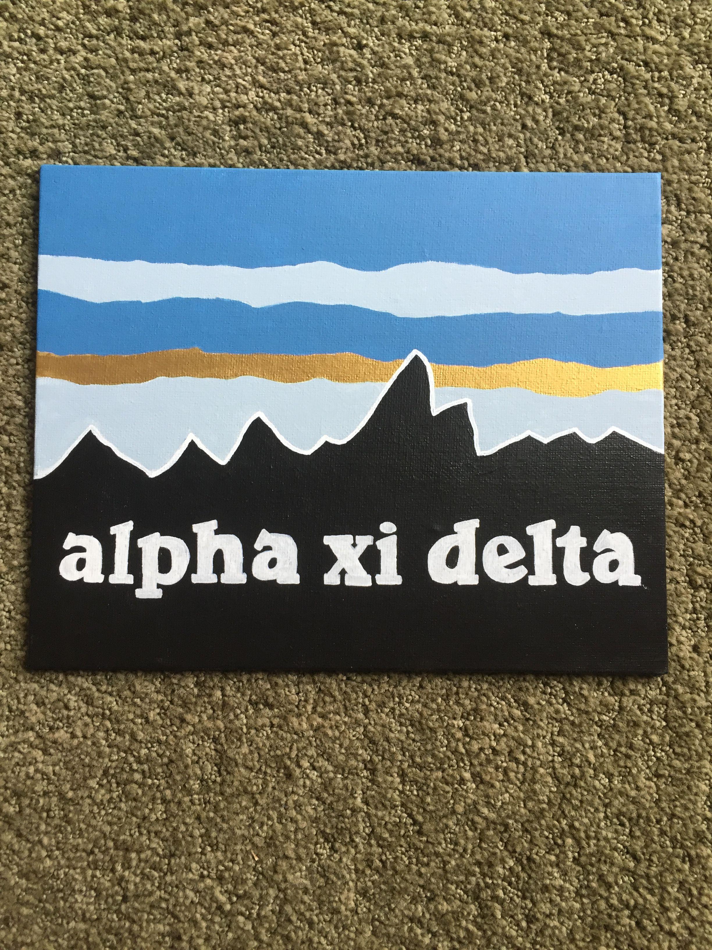 Purdue Alpha Xi Delta Patagonia Big Little Sorority Canvas Alpha