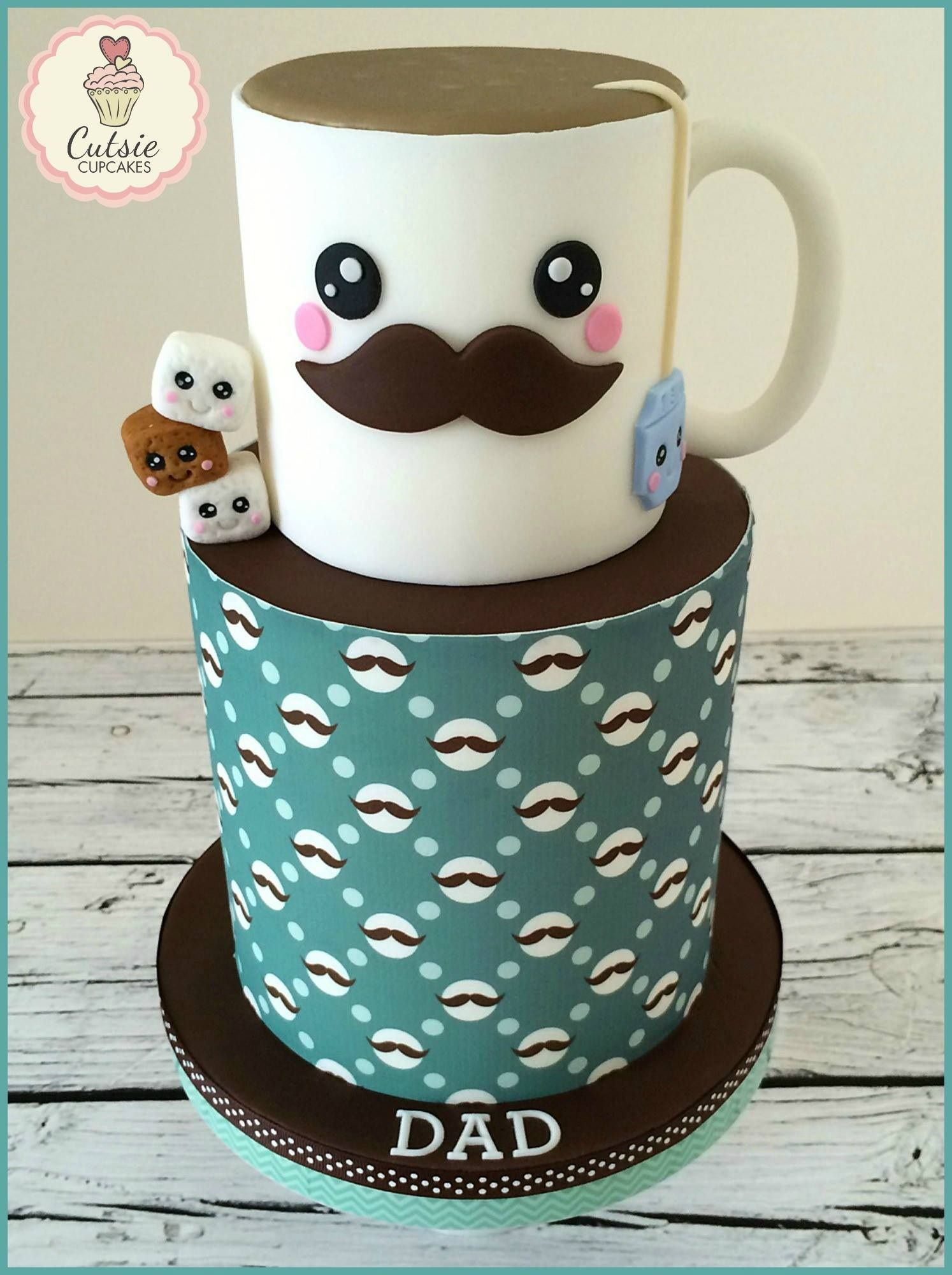 Father\'s Day cake for Tea Lover - Father\'s Day cake for Tea Loving ...