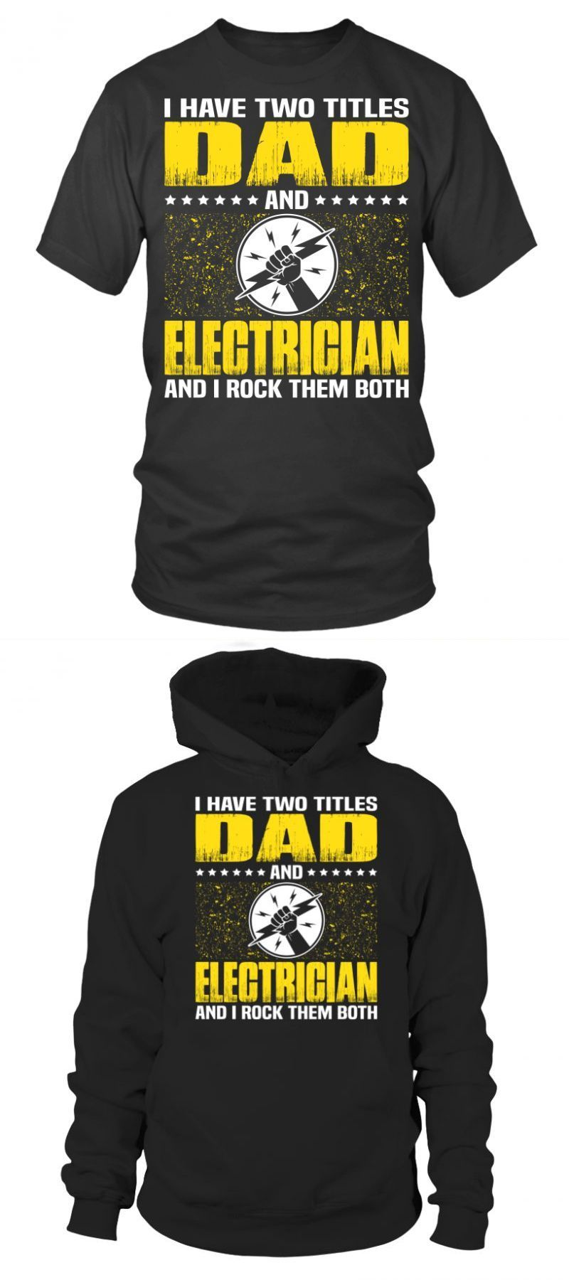 Electrician dad funny t shirts fathers day gift