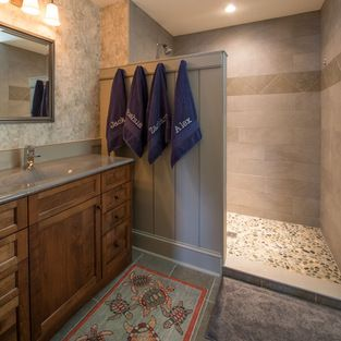 Small Master Bath Walk In Shower Design Ideas Pictures Remodel And Decor Farmhouse Shower Bathroom Shower Tile Bathrooms Remodel