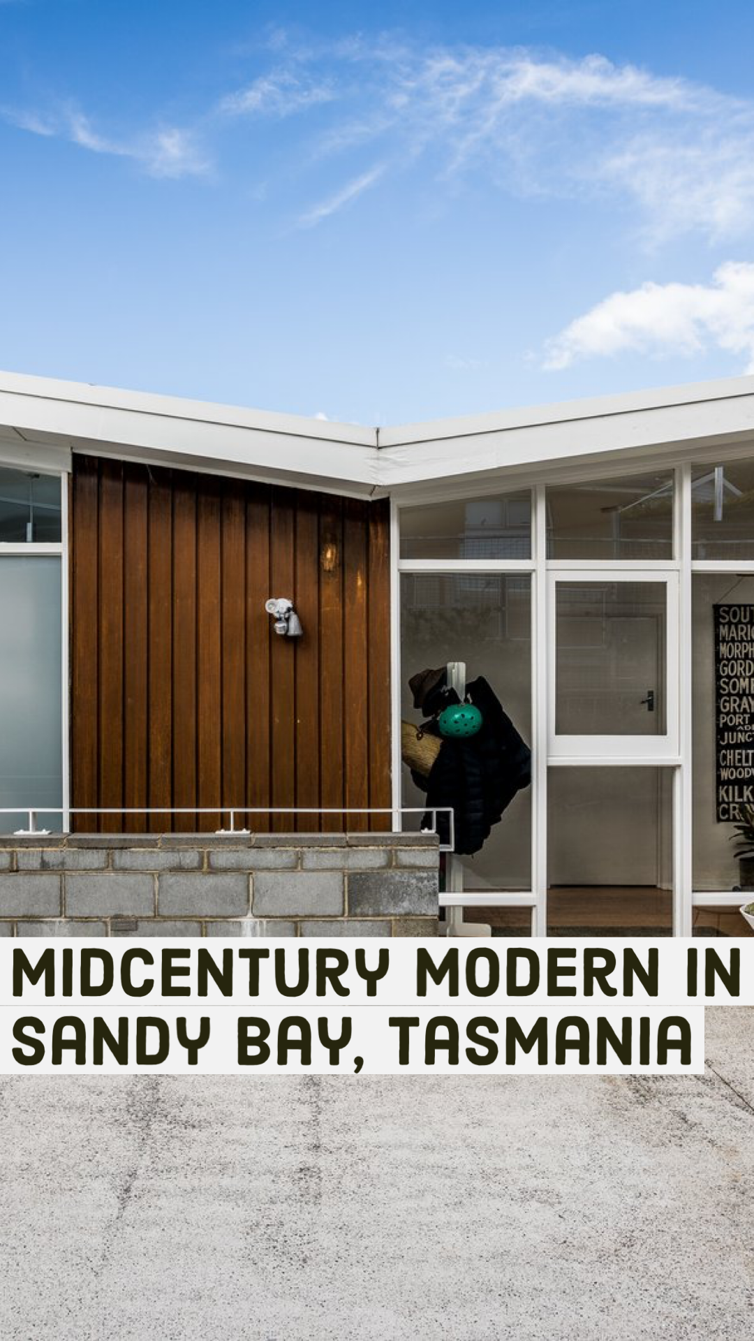 Midcentury Modern In Sandy Bay Tasmania Mid Century Home Mid Century House Mid Century Modern House Midcentury Modern