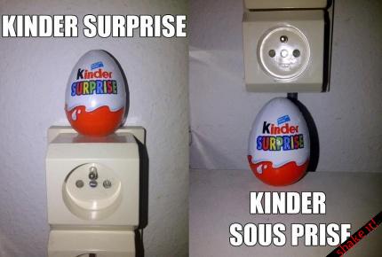 image drole kinder surprise