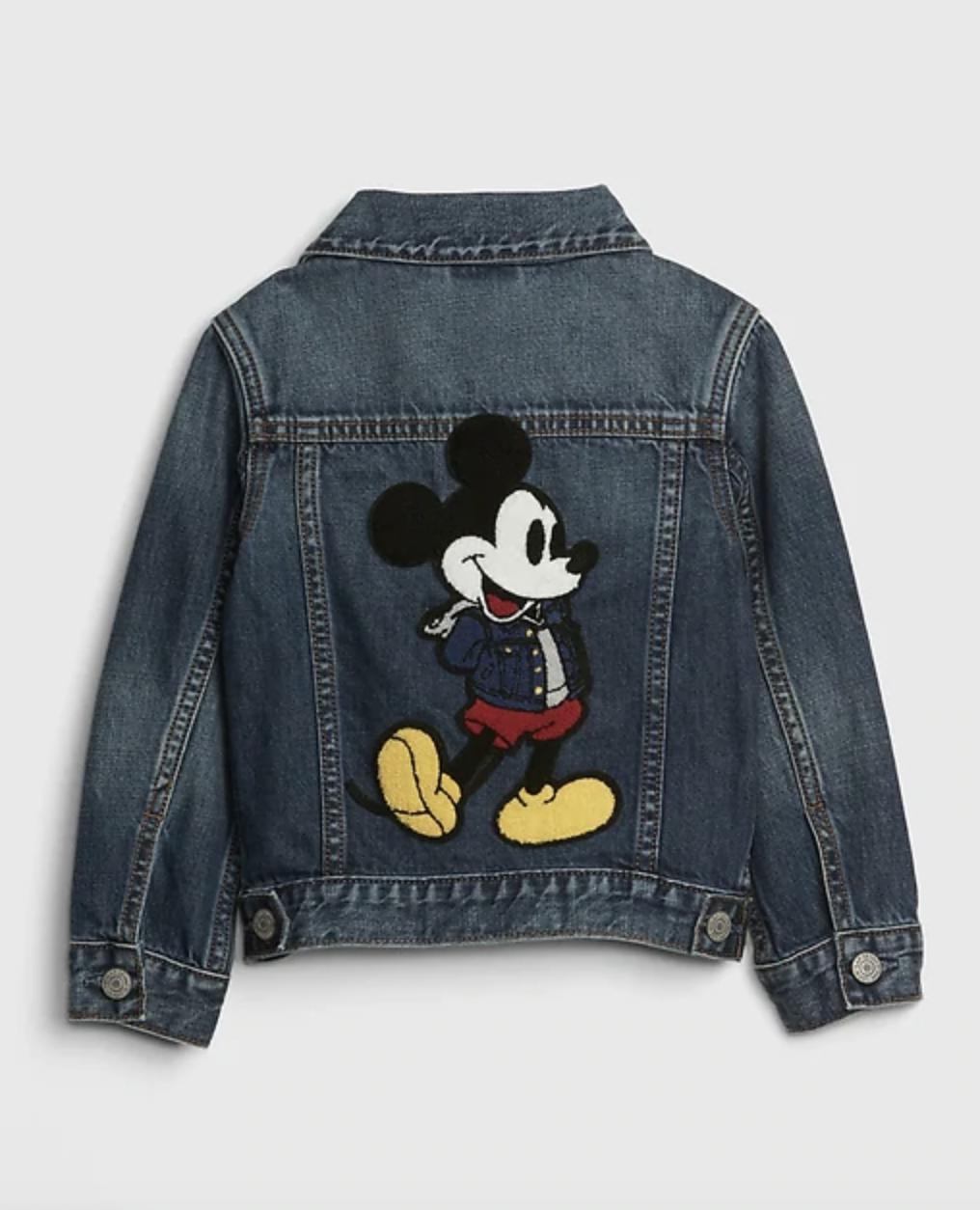 Babygap Disney Mickey Mouse Icon Denim Jacket Mickey Mouse Outfit Denim Jacket Disney Toddler Outfits [ 1254 x 1016 Pixel ]