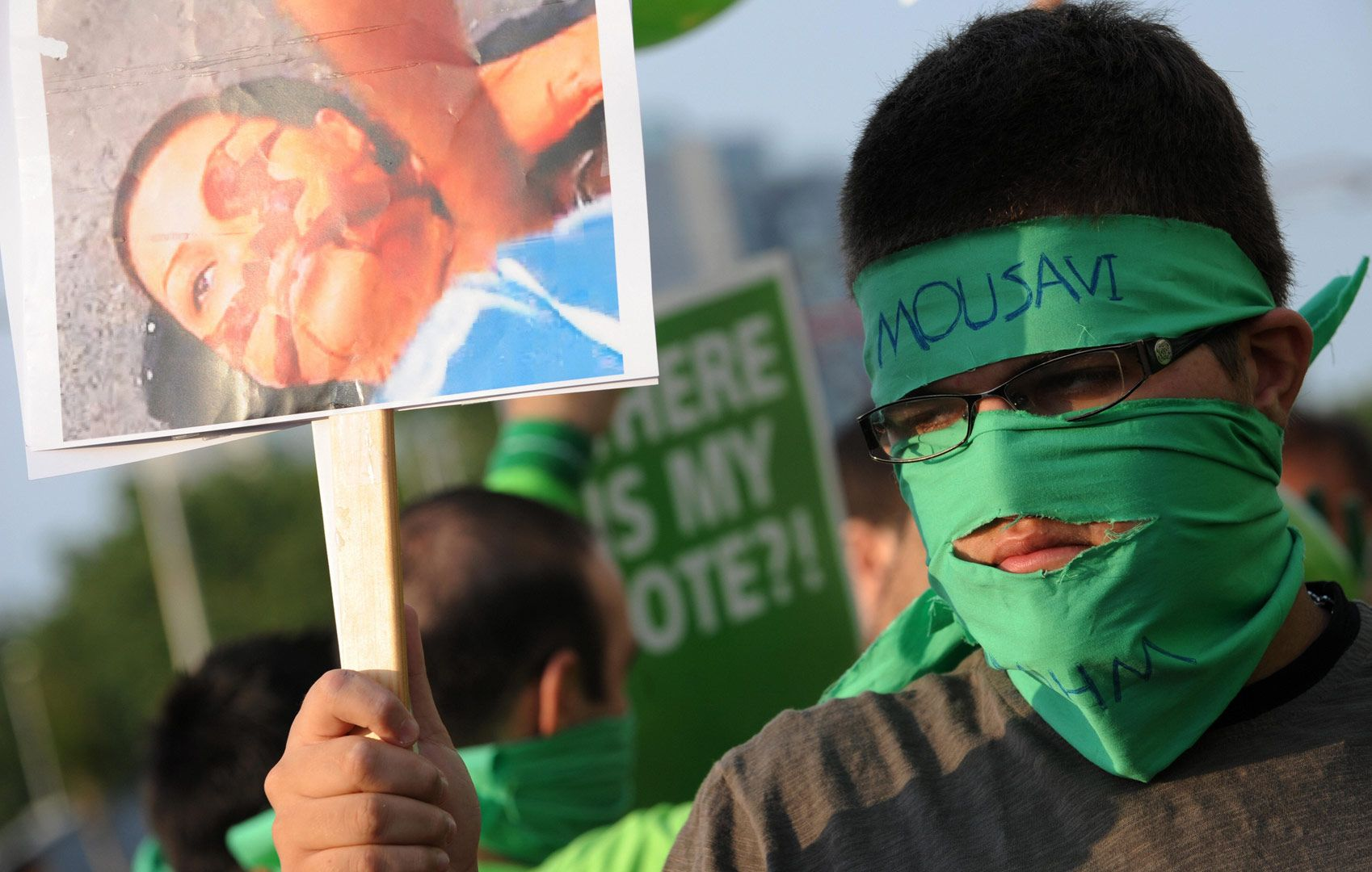 A Supporter Of Iranian Presidential Candidate Mir Hossein Mousavi Participates In A Protest Against The Election Results In I Iranian Women Neda In This Moment