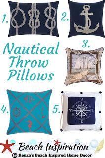 Photo of Nautical Throw Pillows