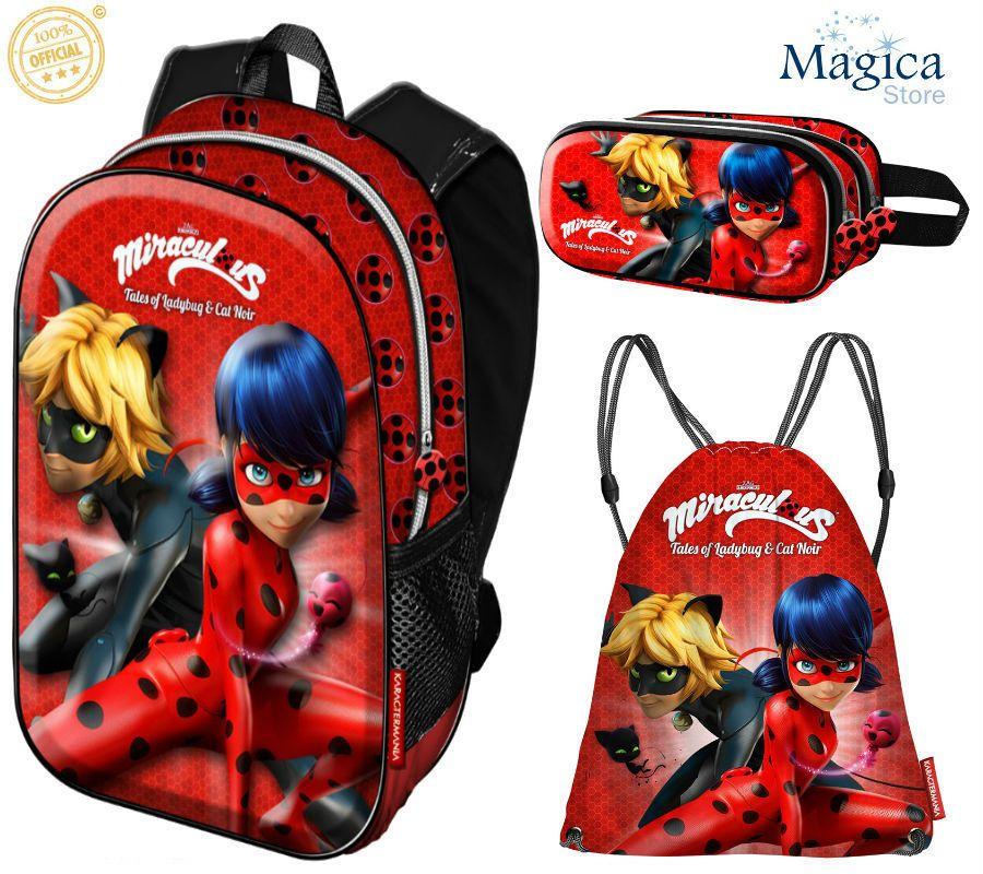 6ece9e6283ee Miraculous Ladybug Backpack 39cm+3D Double Pencil Case +sport bag NEW   LadybugMiraculousPRODIGIOSA