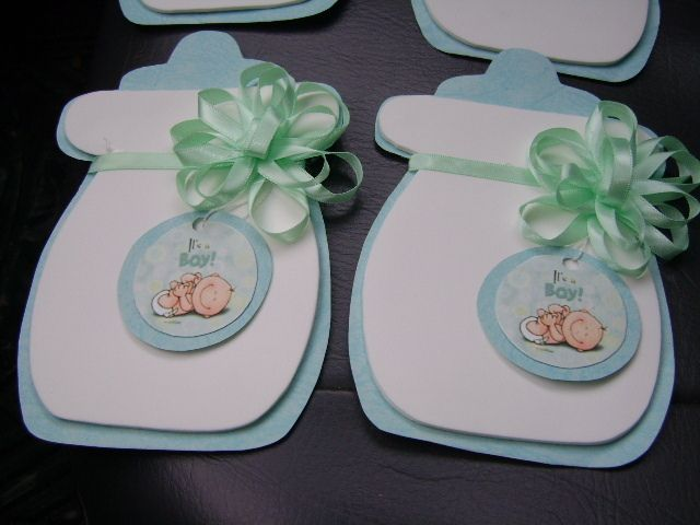 Invitaci n de baby shower de biber n con goma eva for Quiero ver decoraciones