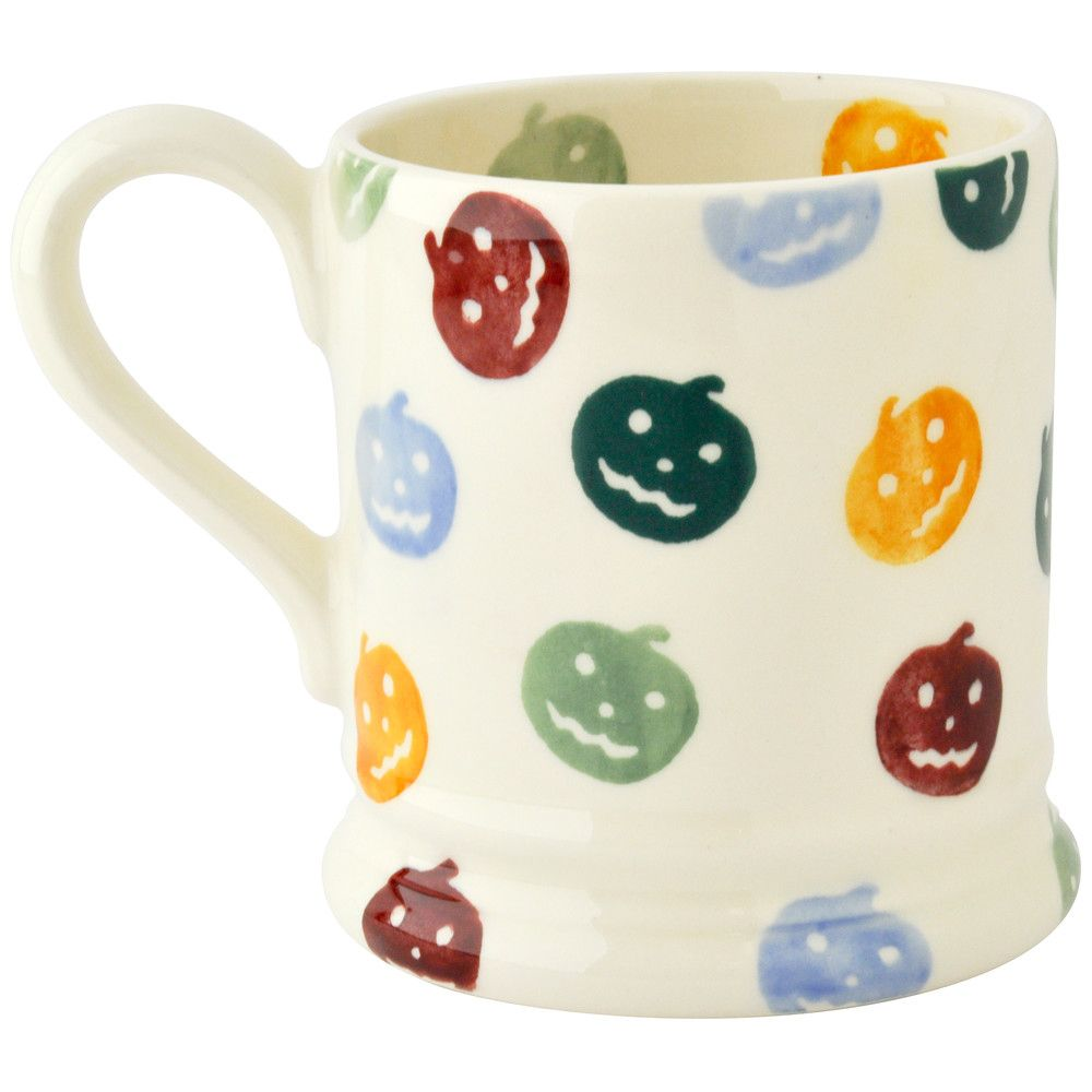 Personalised Polka Pumpkin Half Pint Mug at Emma Bridgewater 2015