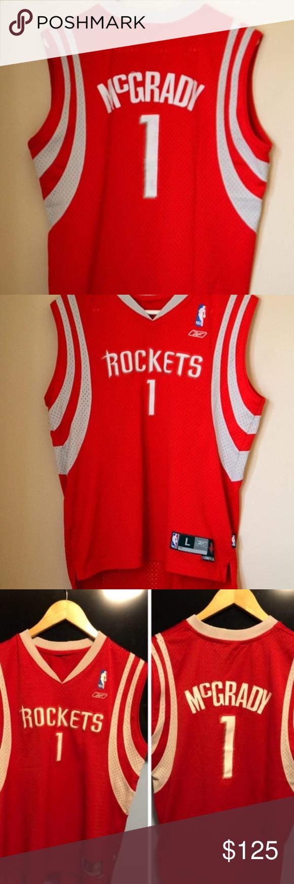 official photos fa120 1102d Tracy mcgrady stitch houston rockets jersey Size large Like ...