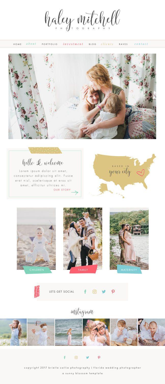 Wix Website Design Wix Website Template Logo Design Photography - Wedding photography website templates