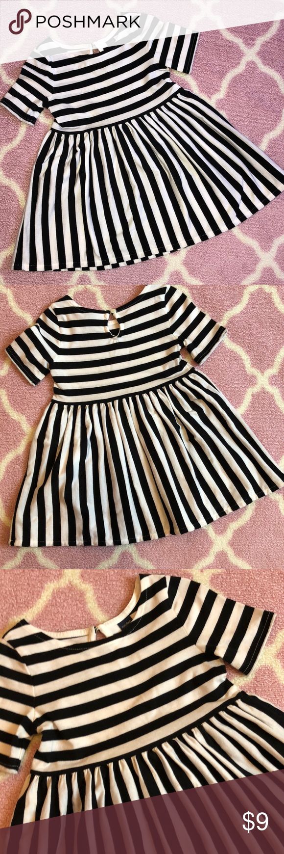 65230a0541ff Striped black and white baby gap dress