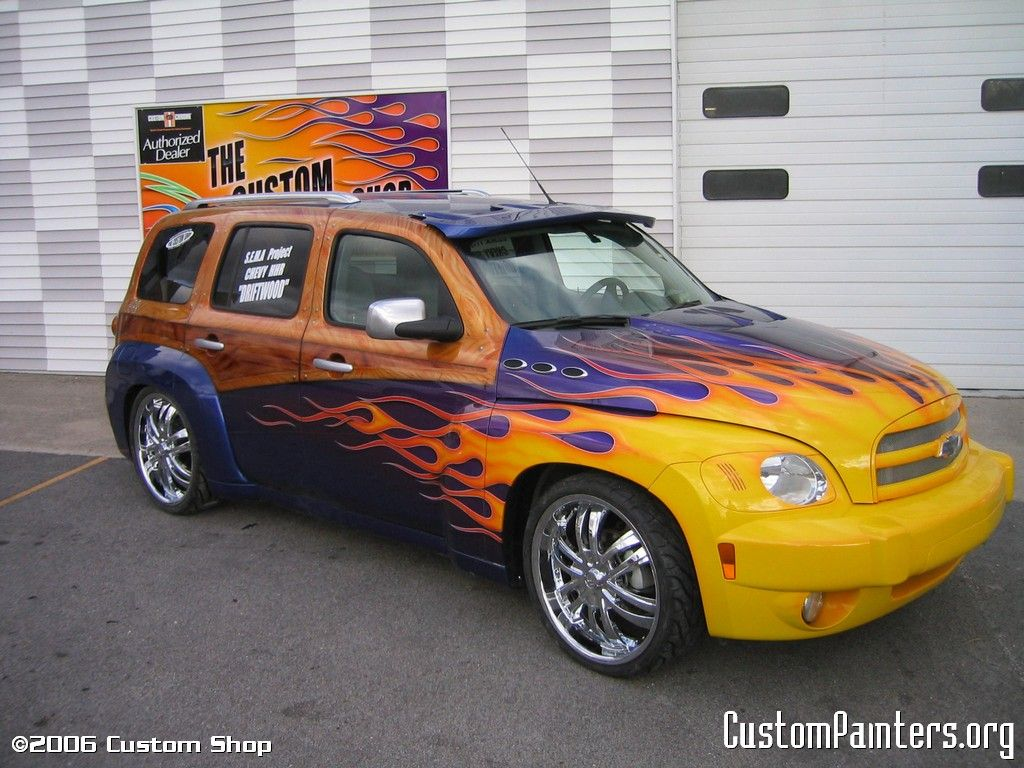 Custom Van Paint Jobs Custom Hhr Chevy Custompaintersorg Chevy