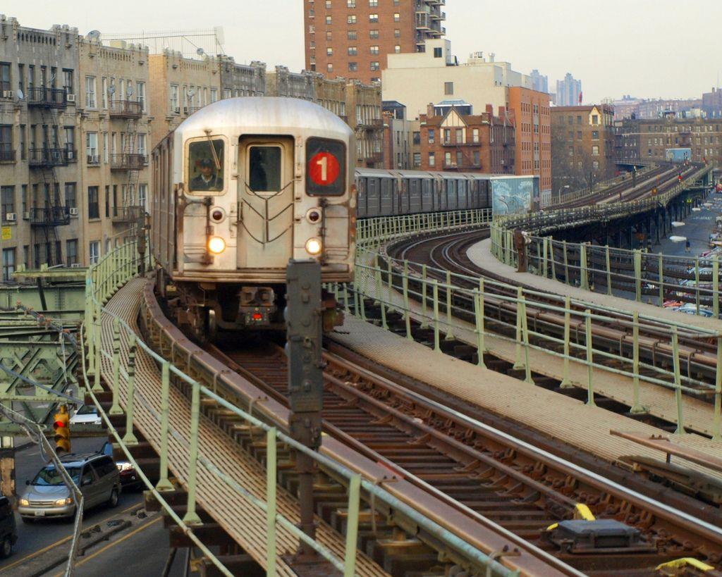 No 1 Train on Elevated Subway Tracks, Inwood, New York City | City ...