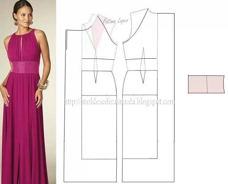 vestido largo   Patrones de costura   Pinterest   Vestido largo ...
