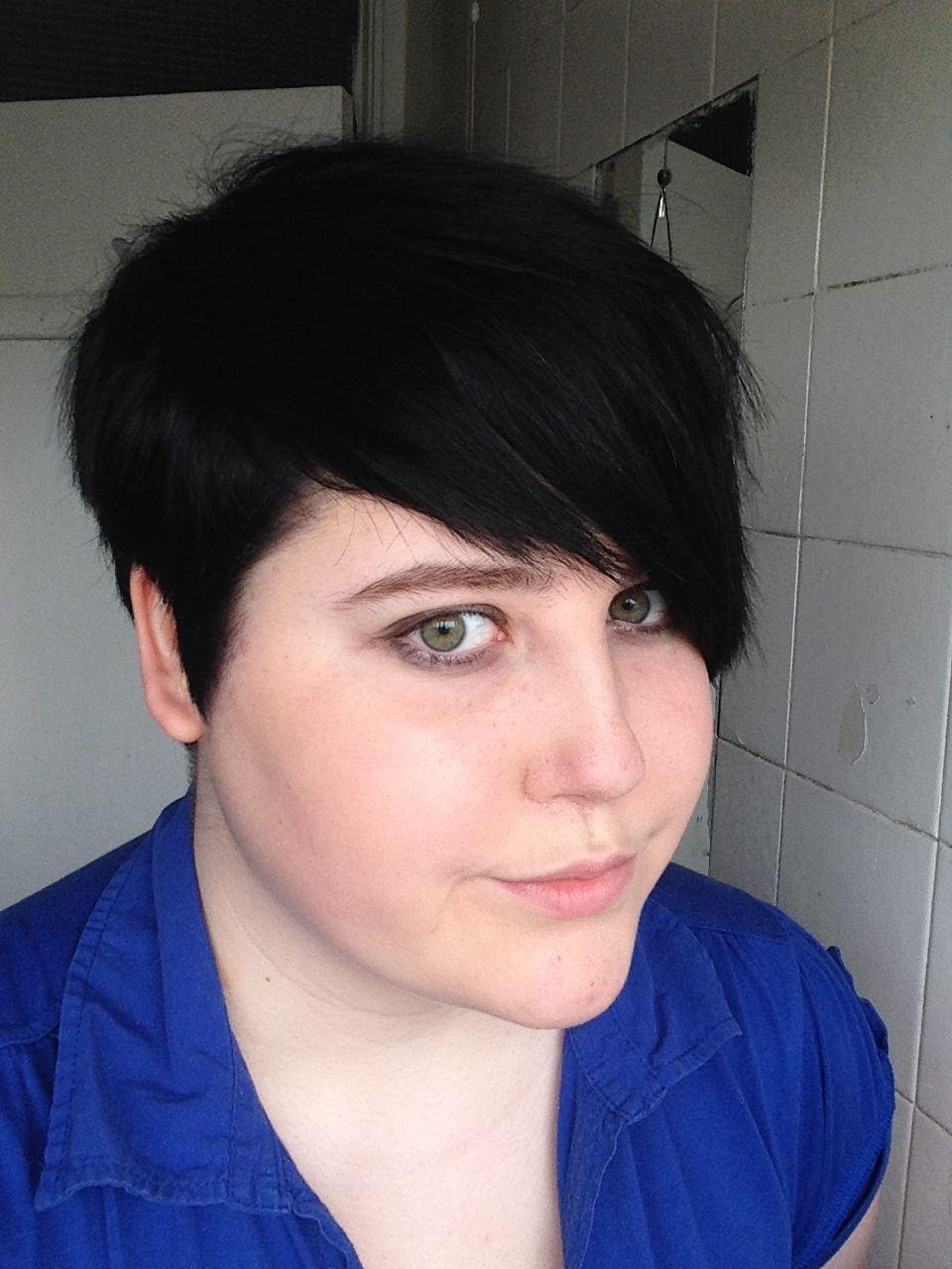 Fat Girls Short Hair Yes Photo Hair Pinterest Girl