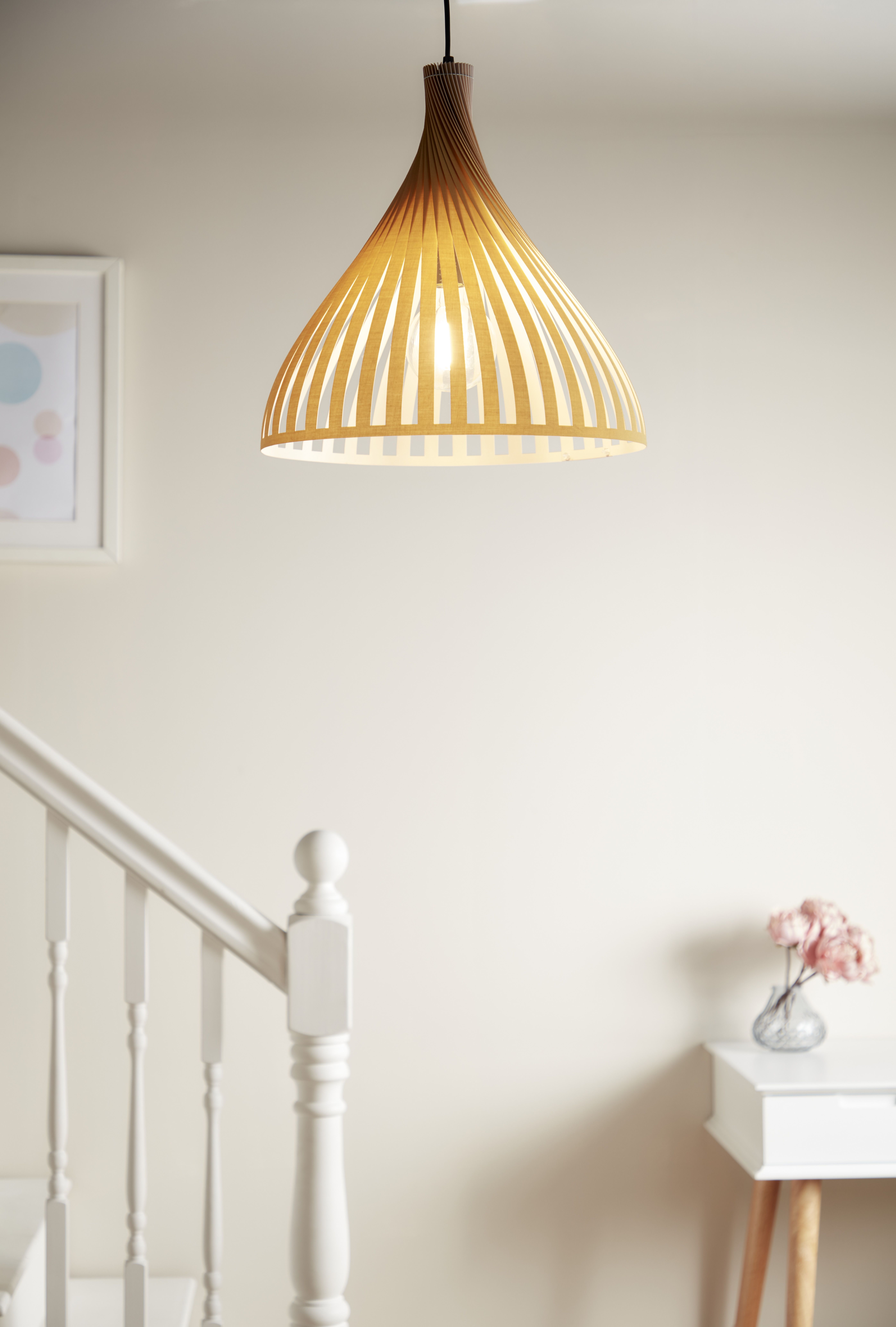 Lampa Wiszaca Goodhome Crozon 1 Punktowa E27 Drewno Decor Pendant Light Home Decor