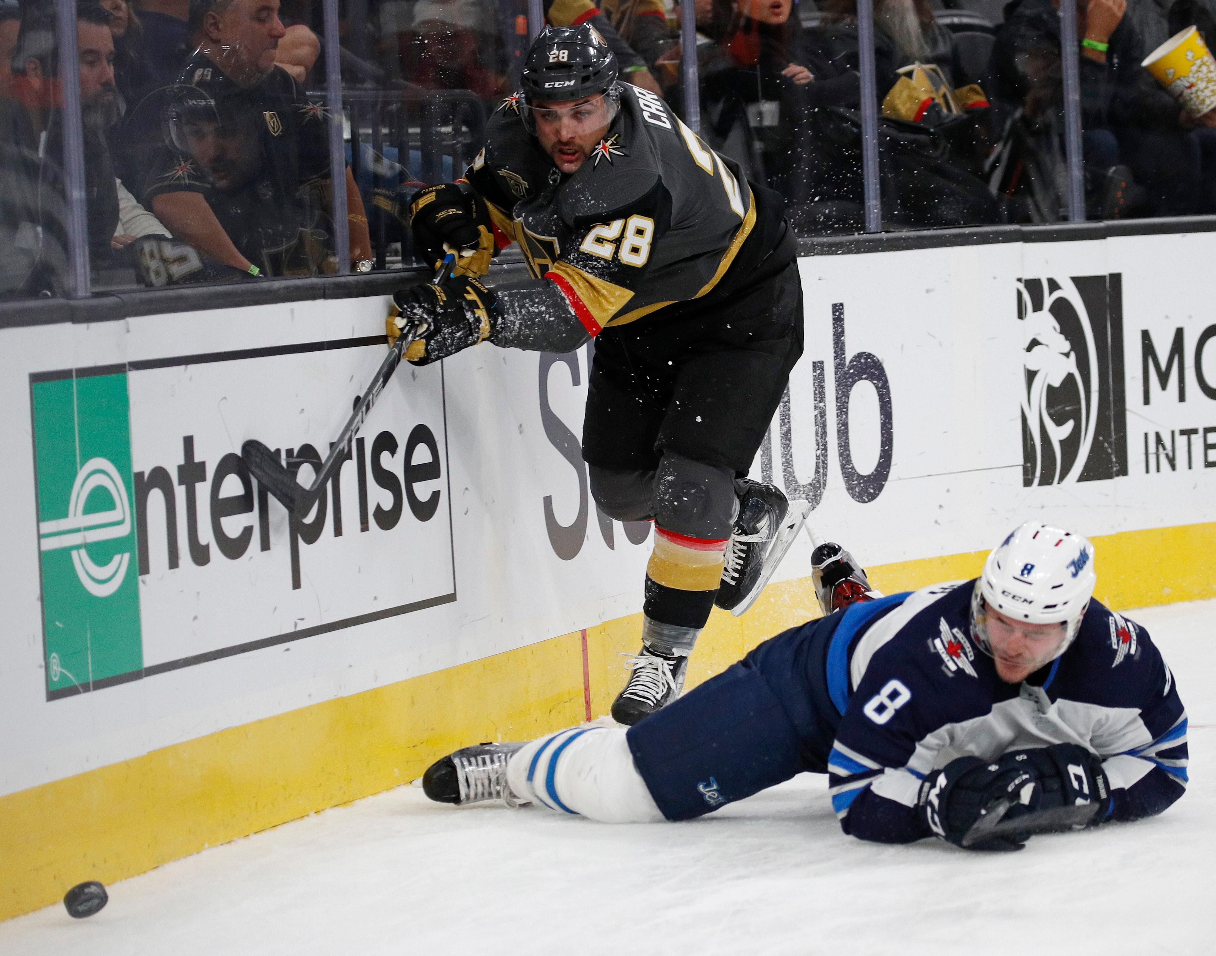 Vegas Golden Knights left wing William Carrier (28