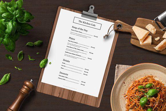 Restaurant Menu Template By ASBA Creative Studio On Creativemarket - Creative menu design templates
