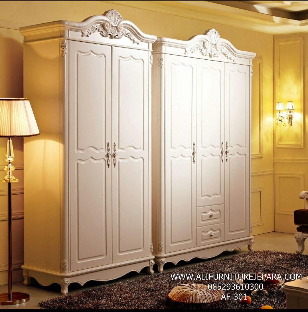 Lemari Pakaian Kayu Murah Pintu 2 Dan Pintu 3 Af 301 Lemari