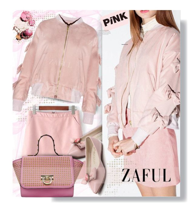 """""""Zaful.com: All in Pink!!"""" by hamaly ❤ liked on Polyvore featuring women's clothing, women, female, woman, misses and juniors"""