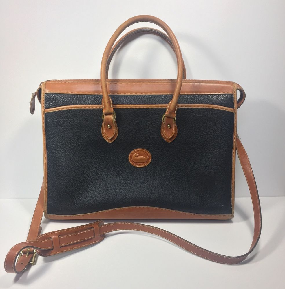 Vintage Dooney Bourke Briefcase Leather Large Laptop Bag