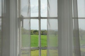Countryside bedroom view